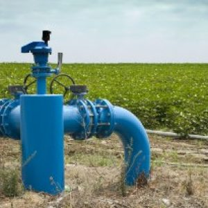 Irrigation systems, pipes and faucets for watering.